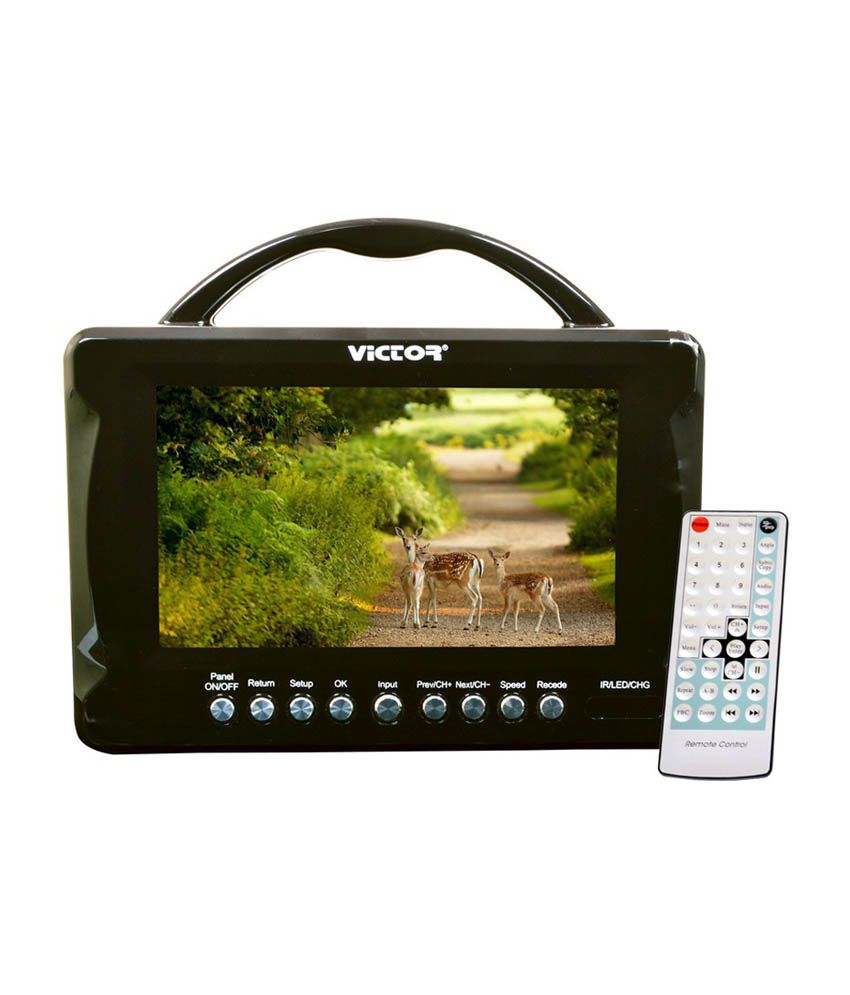 Victor 17.78 cm (7) Portable LED Wide Screen TV/Monitor with Remote