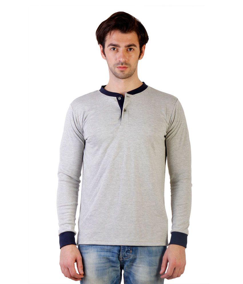 Ebry Grey Cotton Tshirt