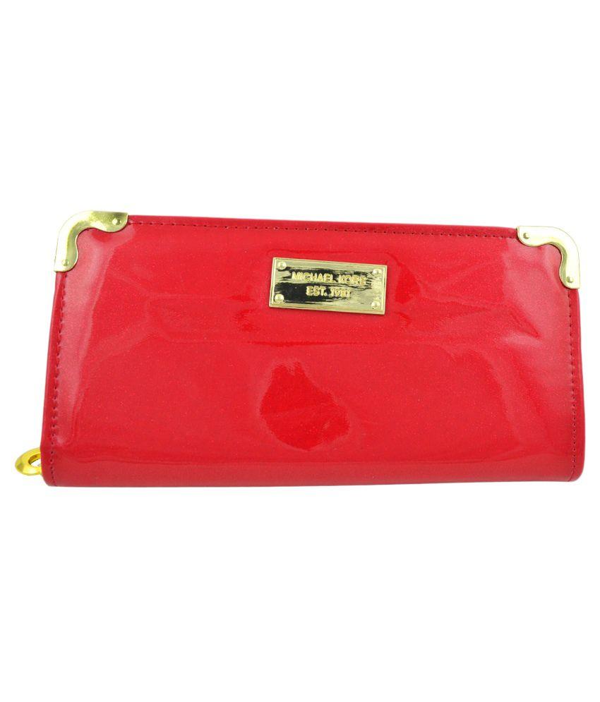 Fashion Waves India Designer Red Long Wallet
