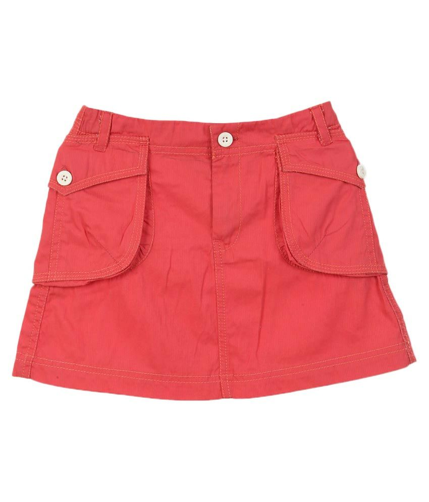 Lilliput Red Cotton Skirt