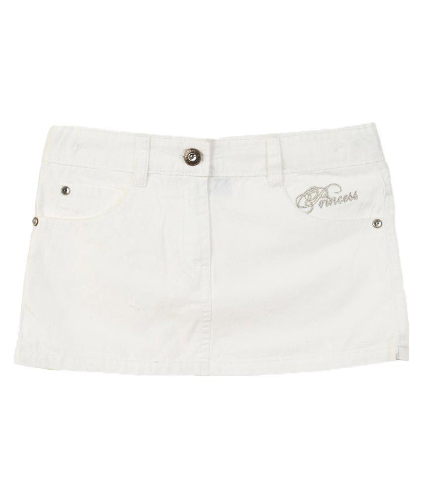Lilliput White Cotton Skirt