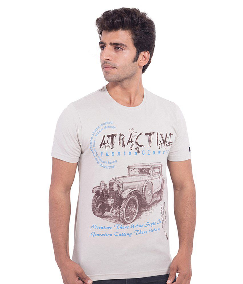 Nimbus White Cotton T Shirt