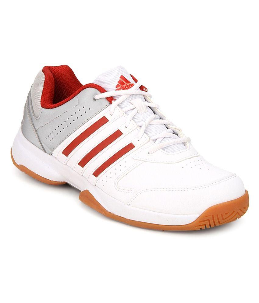 adidas white badminton sports shoes buy adidas white