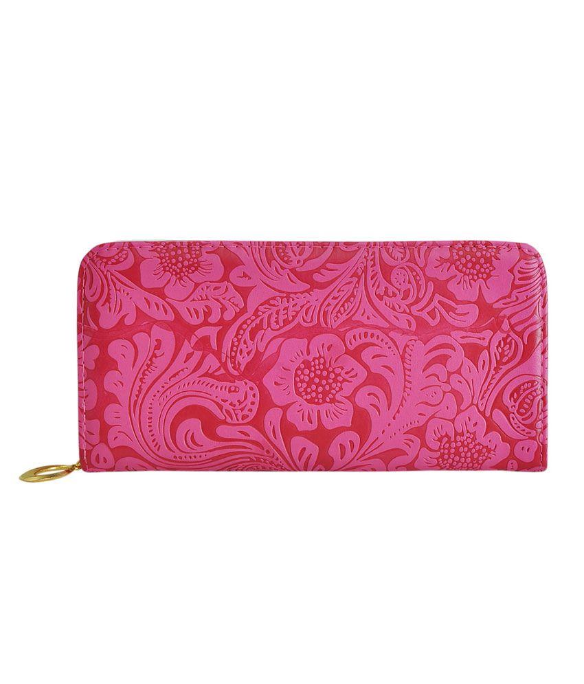 Hawai Pink PU Regular Wallet