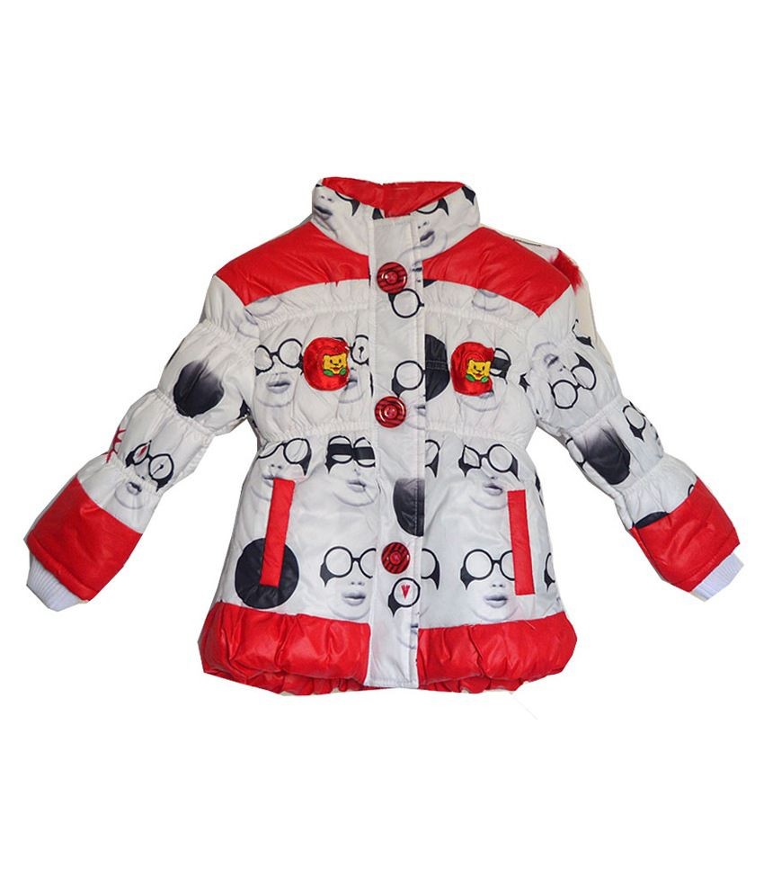 London Girl Red Lapel Hooded Jacket for Girls
