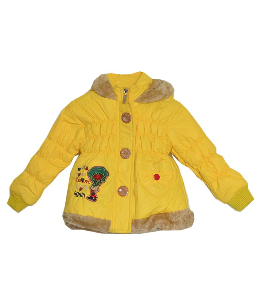 London Girl Yellow Hooded Jacket for Sweet Princess