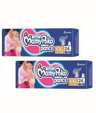 Mamy Poko Pants XXL (15-25 Kg) 24 Pcs Pack of 2