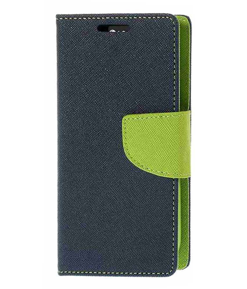 Celphy Flip Cover For Samsung Galaxy E7-Blue & Green
