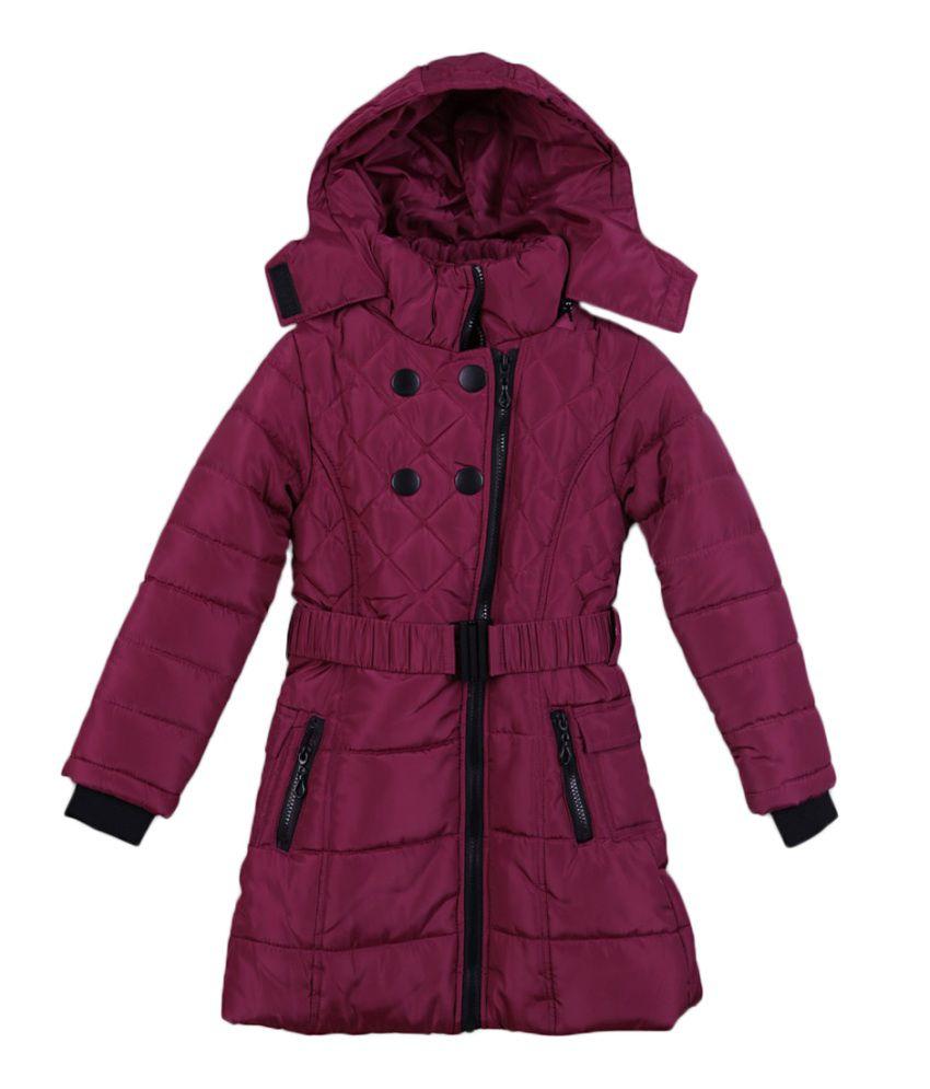 Lilliput Purple Viscose Quilted Jacket