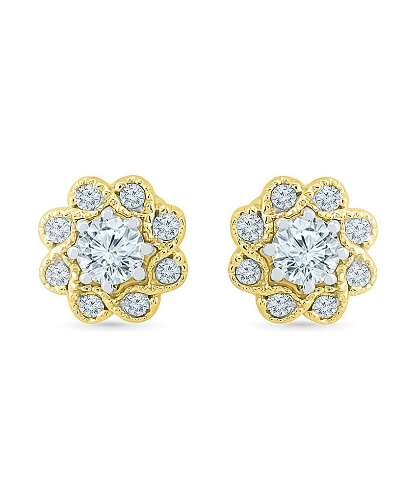 Radiant Bay 14kt Gold Combos Round Studs