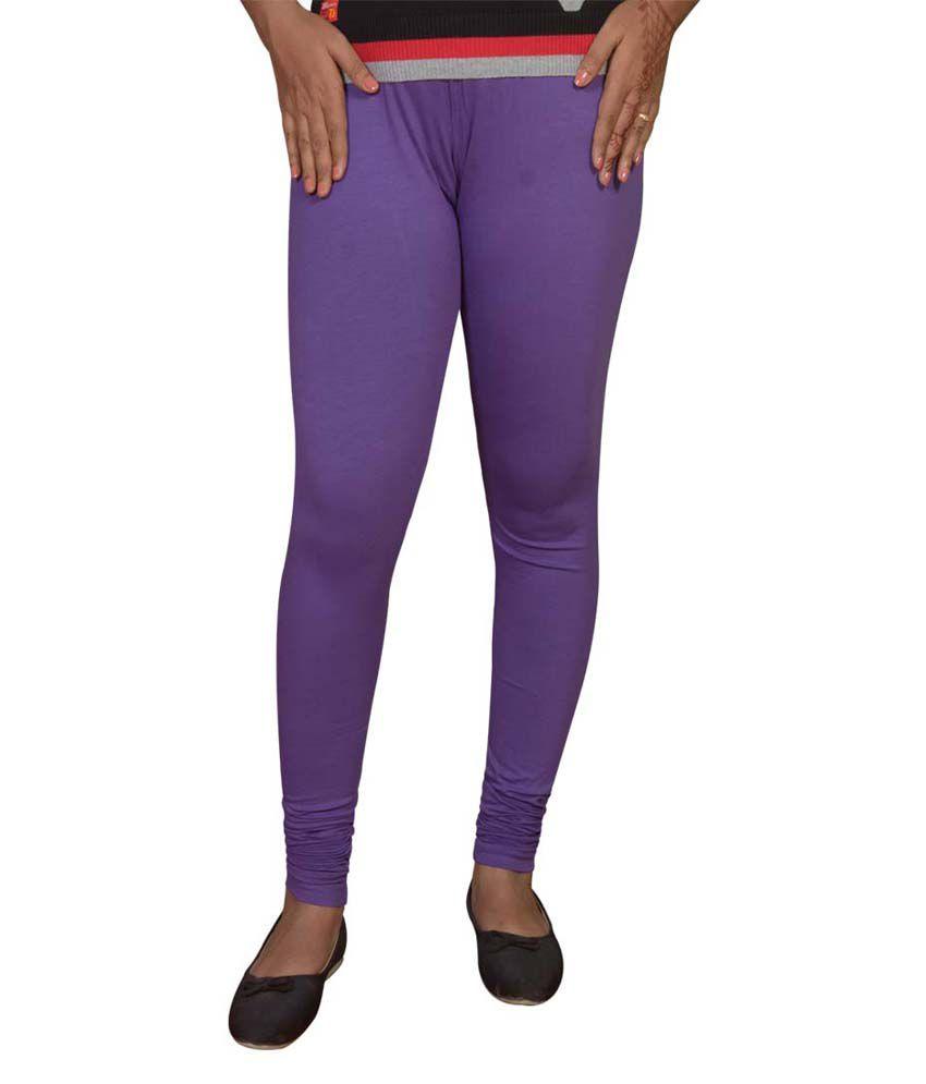 Kothari Purple Blended Leggings