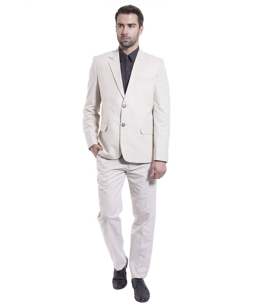 Wintage Beige Formal Suits