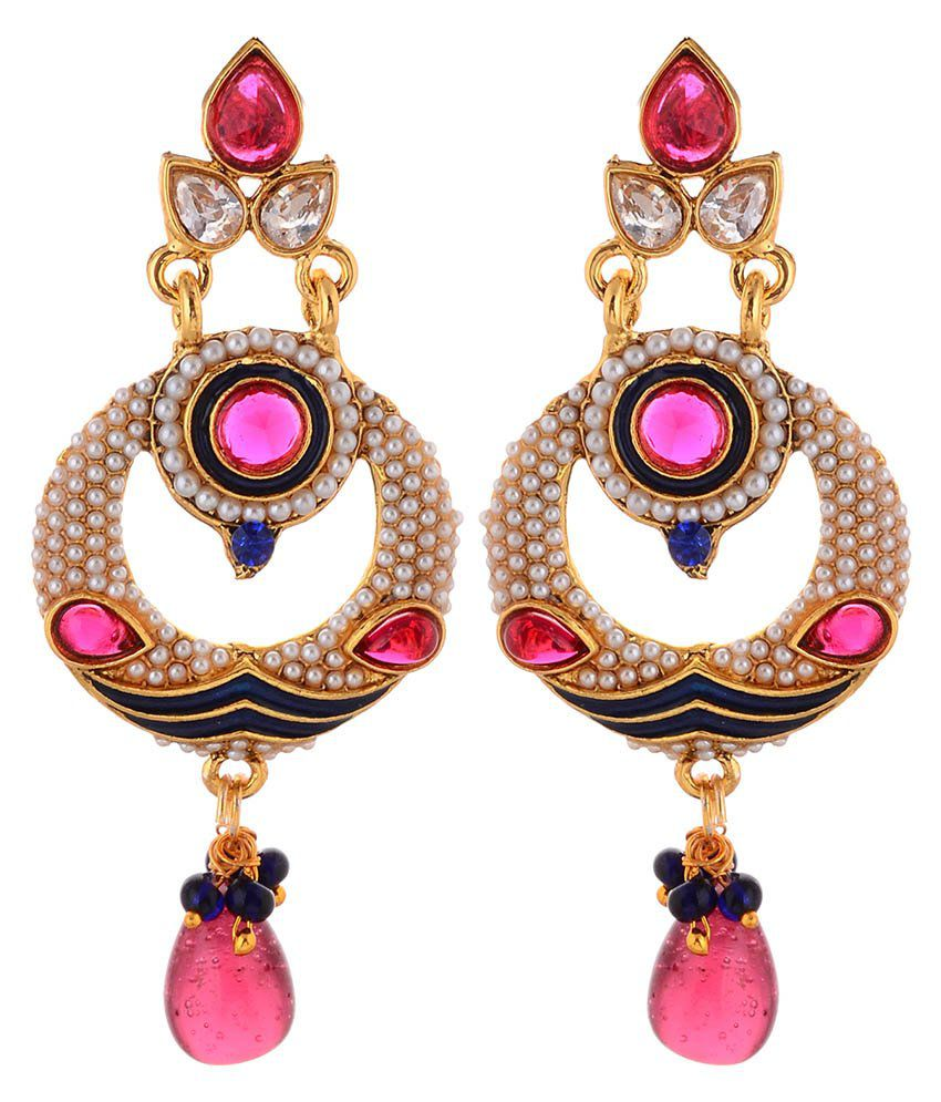 FR Golden Alloy Earrings