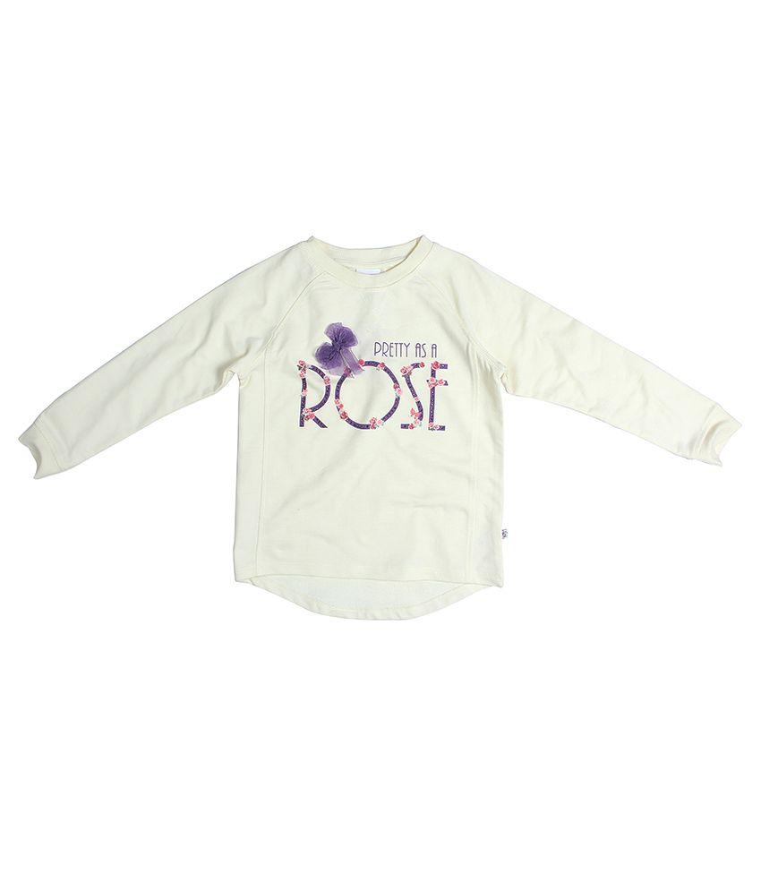 FS MiniKlub Off White Printed Sweatshirt