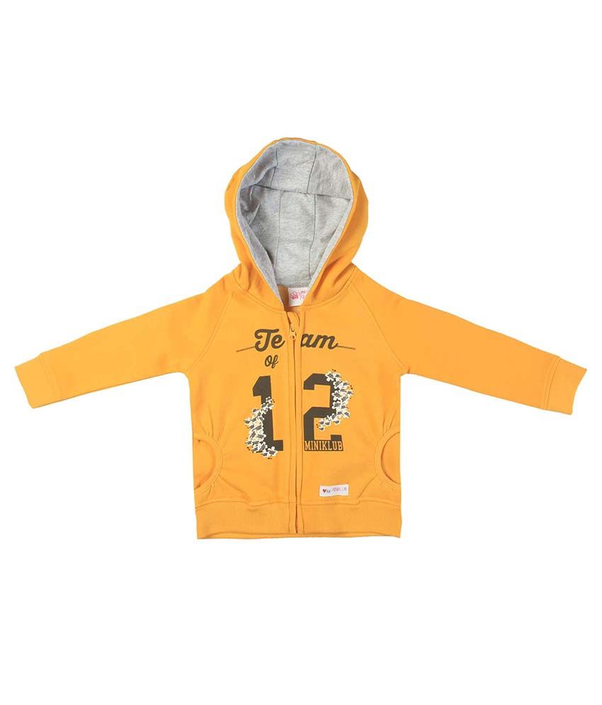 FS MiniKlub Yellow Hooded Zippered Sweatshirt
