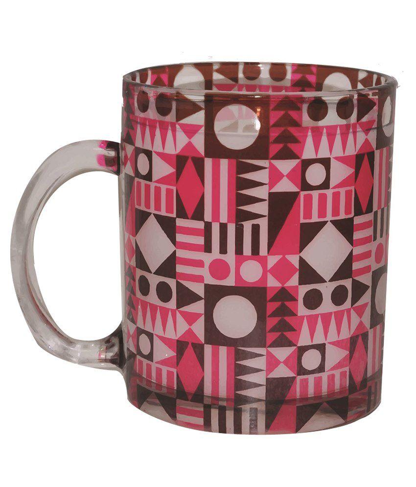 India Unusual Christmas Series Taash Glass Coffee Mug