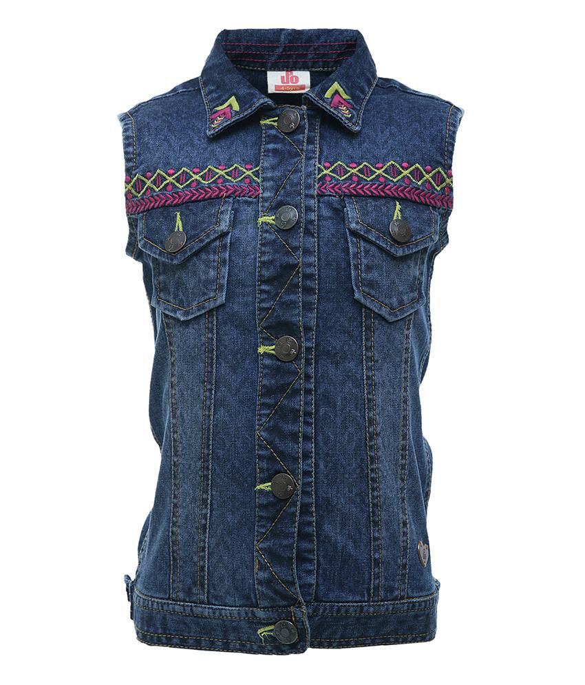 UFO Blue Sleeveless Jacket