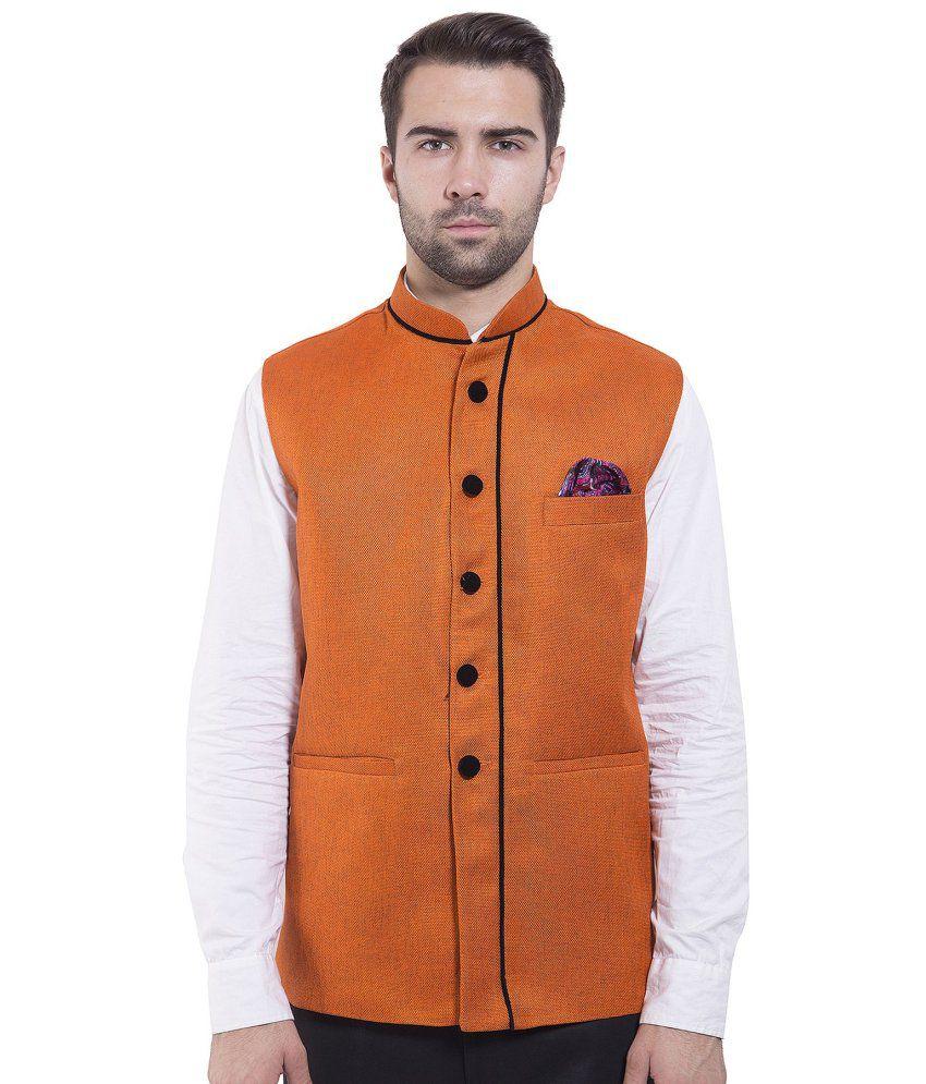 Wintage Orange festive Waistcoats