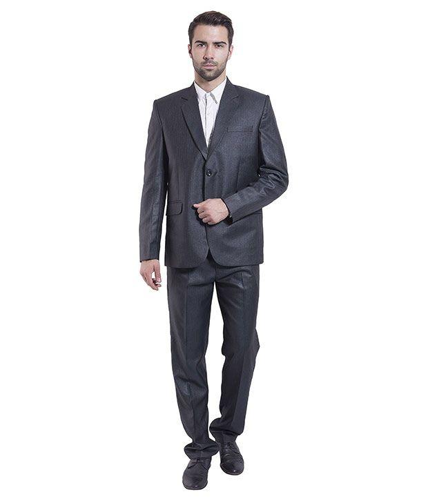 Wintage Blue Poly Blend Suit