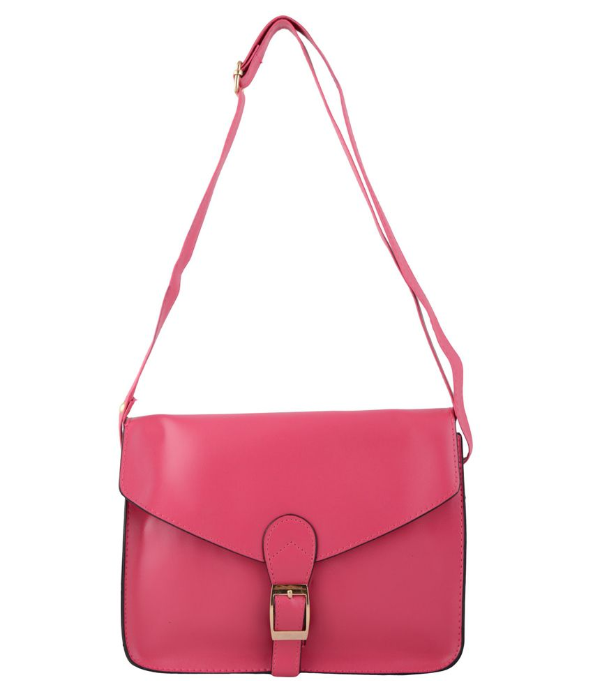 Pankhudi Pink Sling Bag - Buy Pankhudi Pink Sling Bag Online at ...