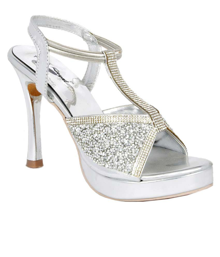 Royal Silver Heeled Slip-Ons