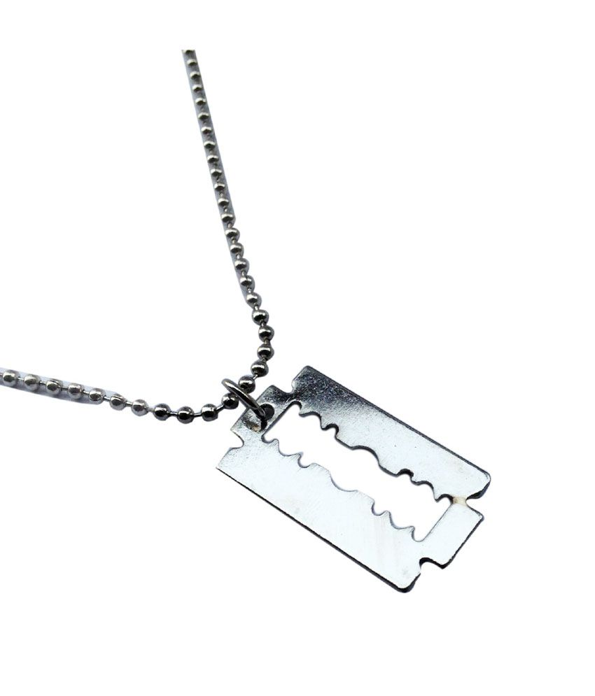 Jocular Silver Stainless Steel Pendant