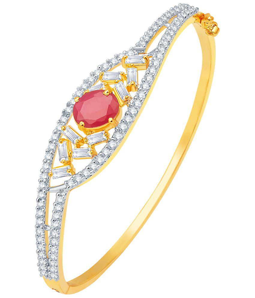 Tirumala Bangles Golden CZ Bracelet