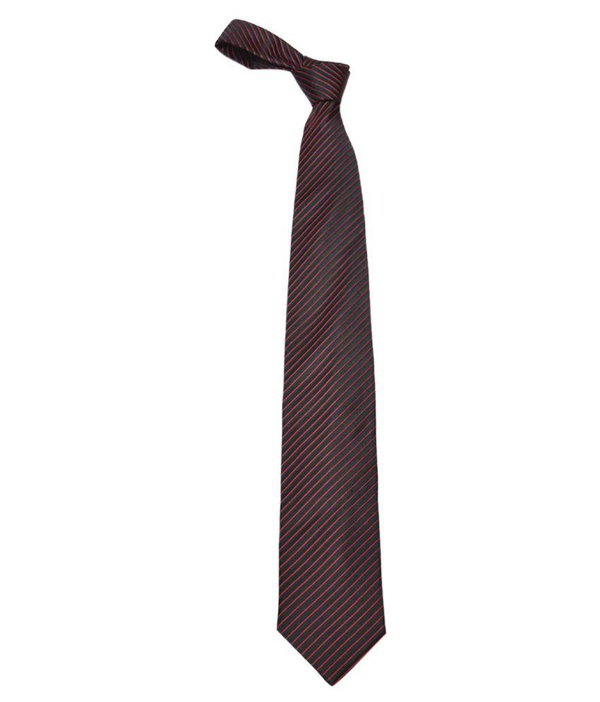 Alvaro Castagnino Black Silk Narrow Tie