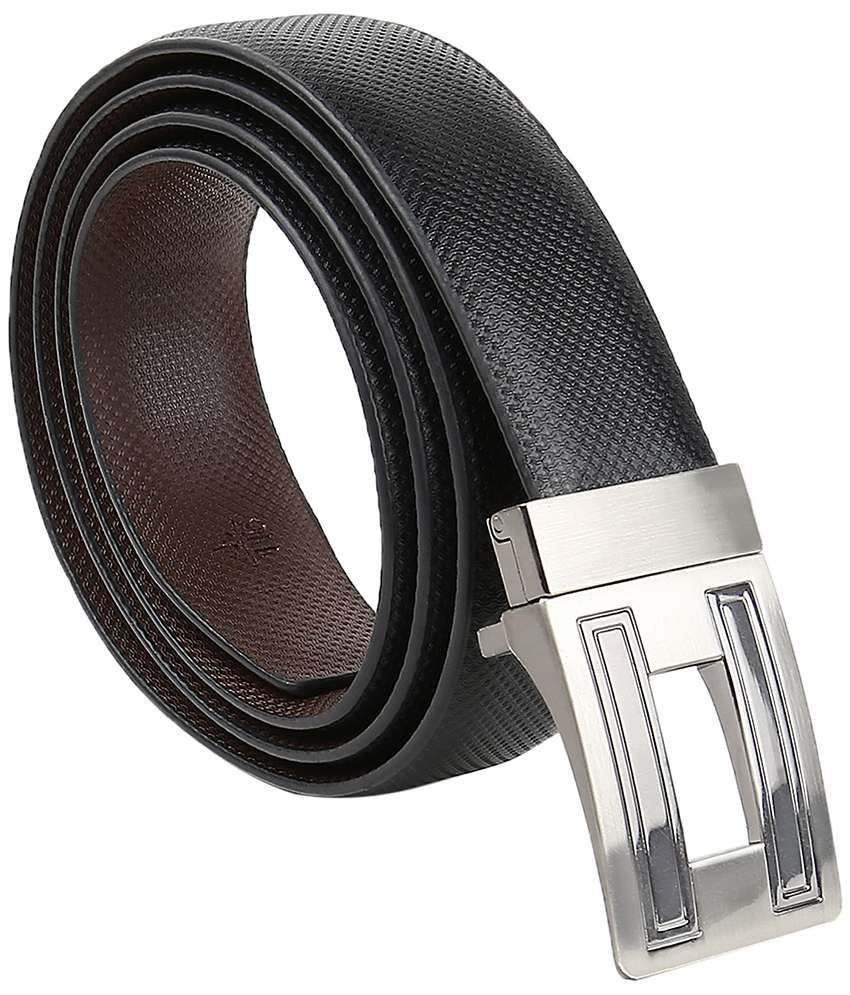 Kailasa Black Reversible Formal Belt for Men
