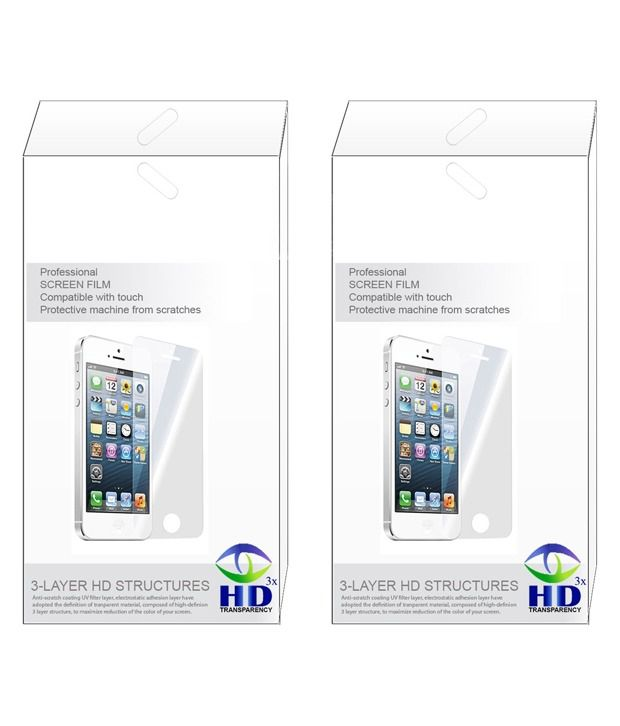 Leo Power Diamond Screen Guard Screen Protector For Karbonn A7+ (Pack of 2)