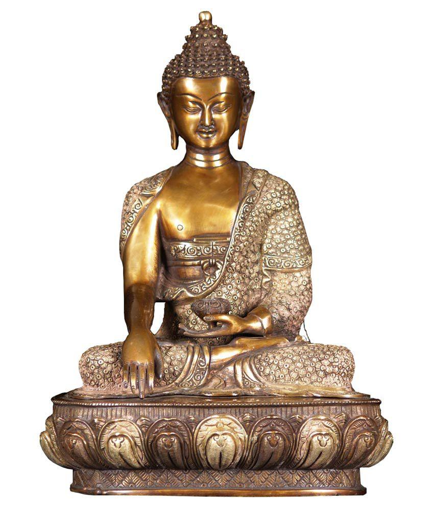 Nature Shilp Glossy Sitting Buddha Idol