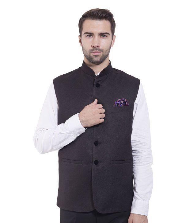 Wintage Black Rayon Waistcoats