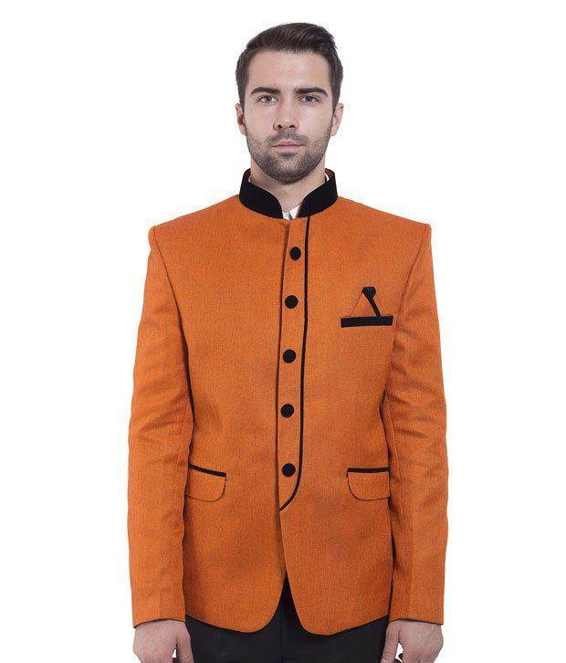 Wintage Orange Rayon Blazer
