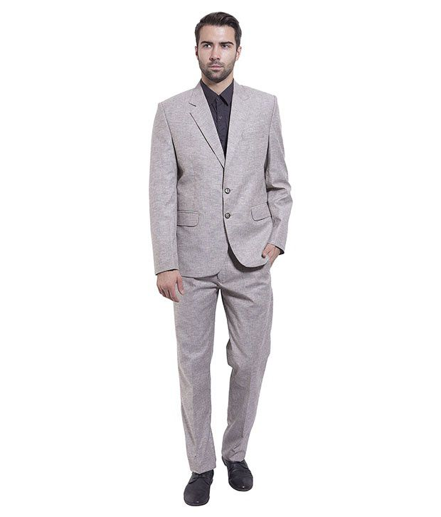 Wintage Silver Poly Blend Suit