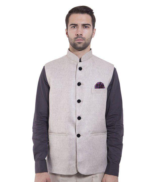 Wintage Silver Rayon Waistcoats