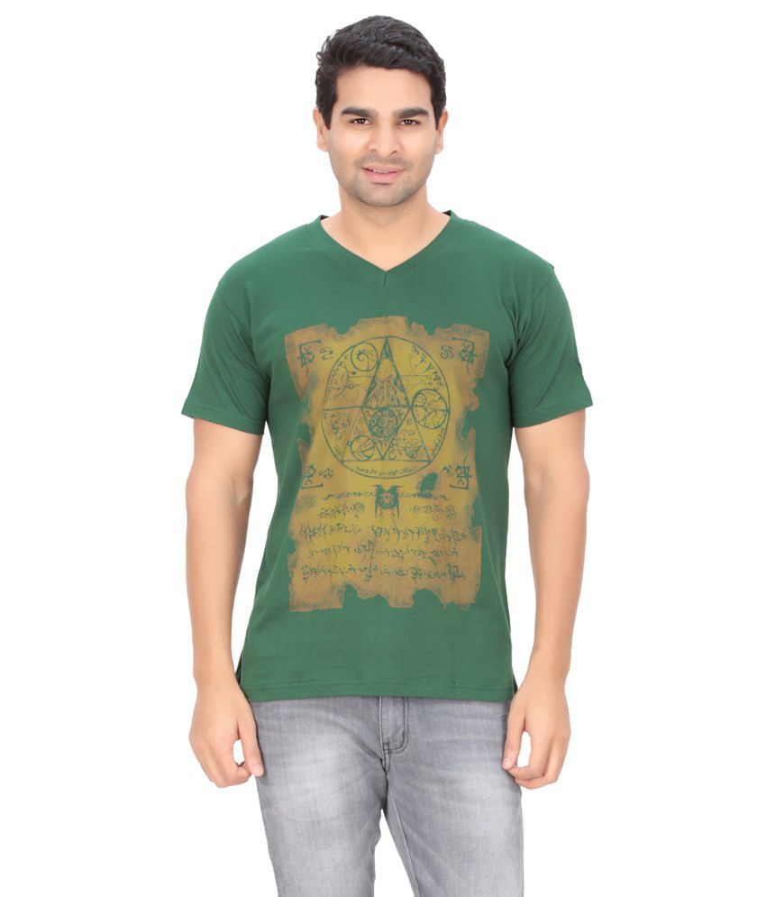 Indian Engineer Green Cotton T-Shirt