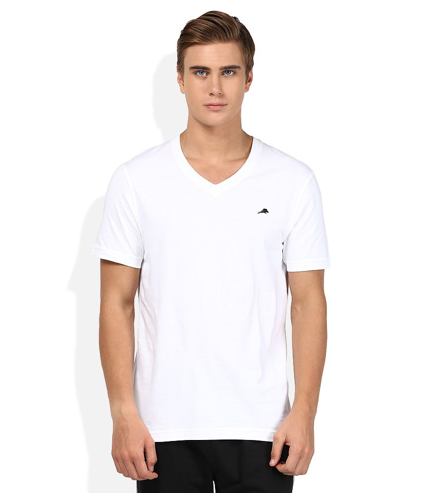 2go White V-Neck T-Shirt