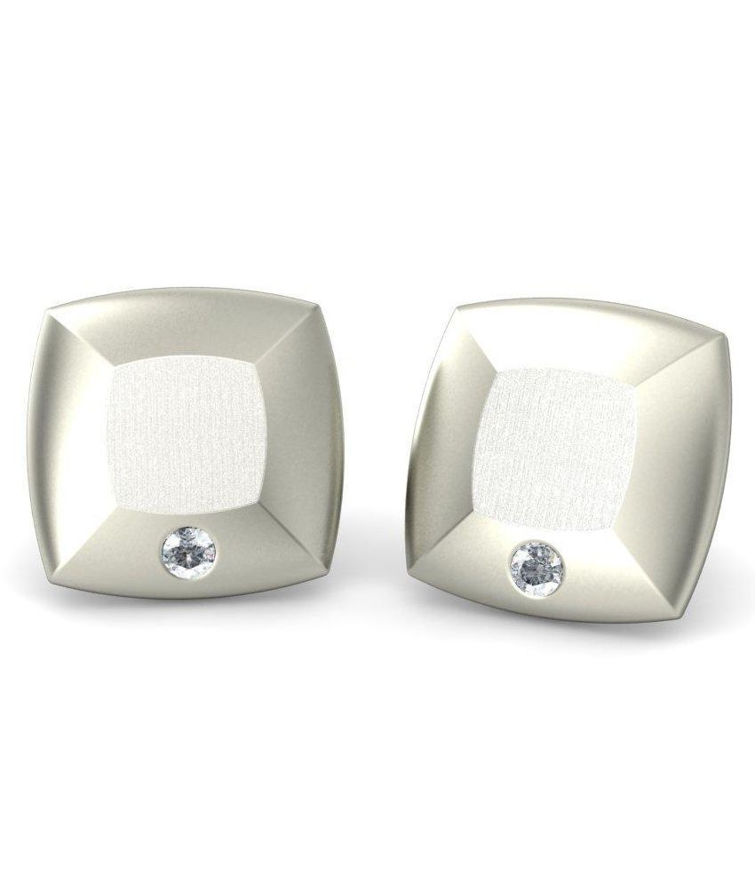 BlueStone 14 Kt White Gold & Diamond Cassandra Stud Earrings