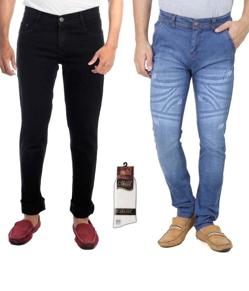 Haltung Multicolour Regular Fit Jeans - Set of 2
