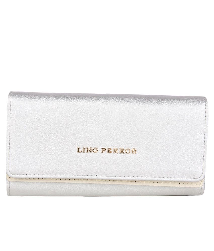 Lino Perros Silver Small Casual Women Clutch