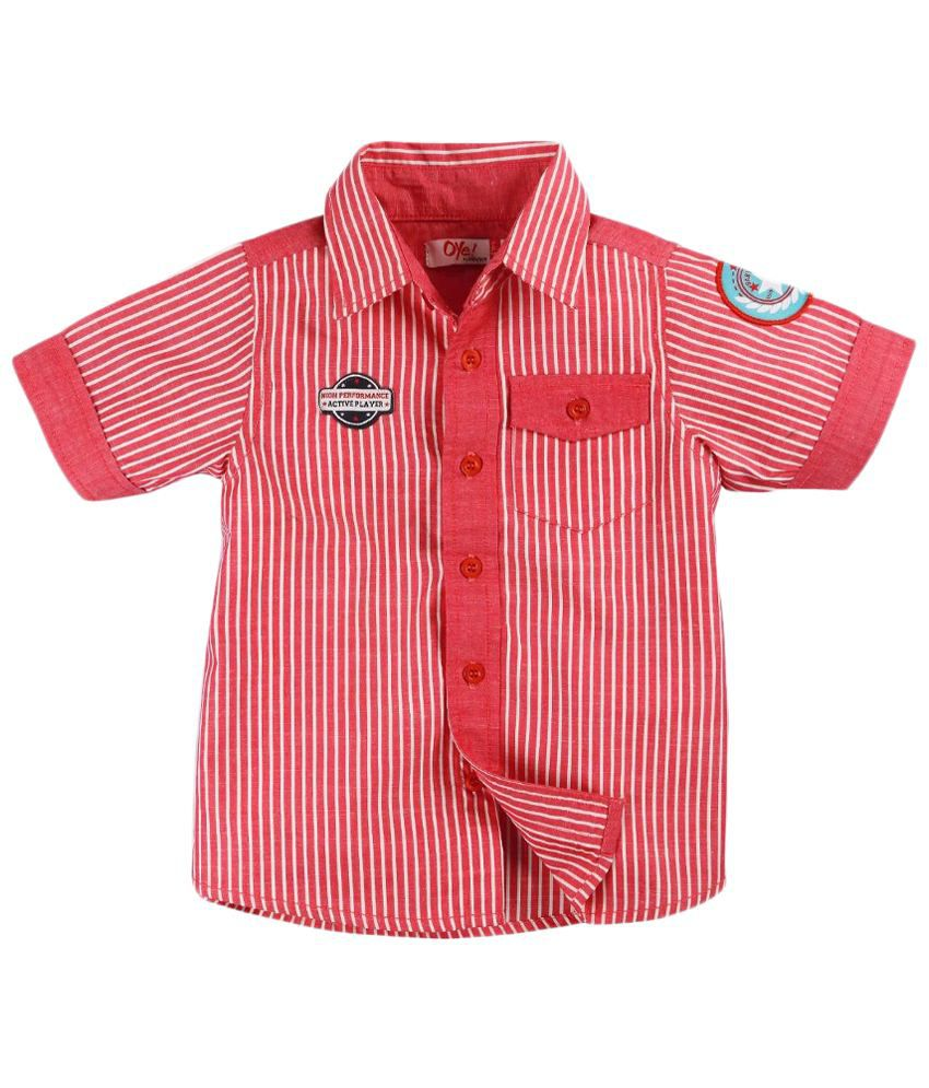 Oye Red & White Striped Half Sleeve Baby Shirt - Buy Oye Red & White Striped  Half Sleeve Baby Shirt Online at Low Price - Snapdeal
