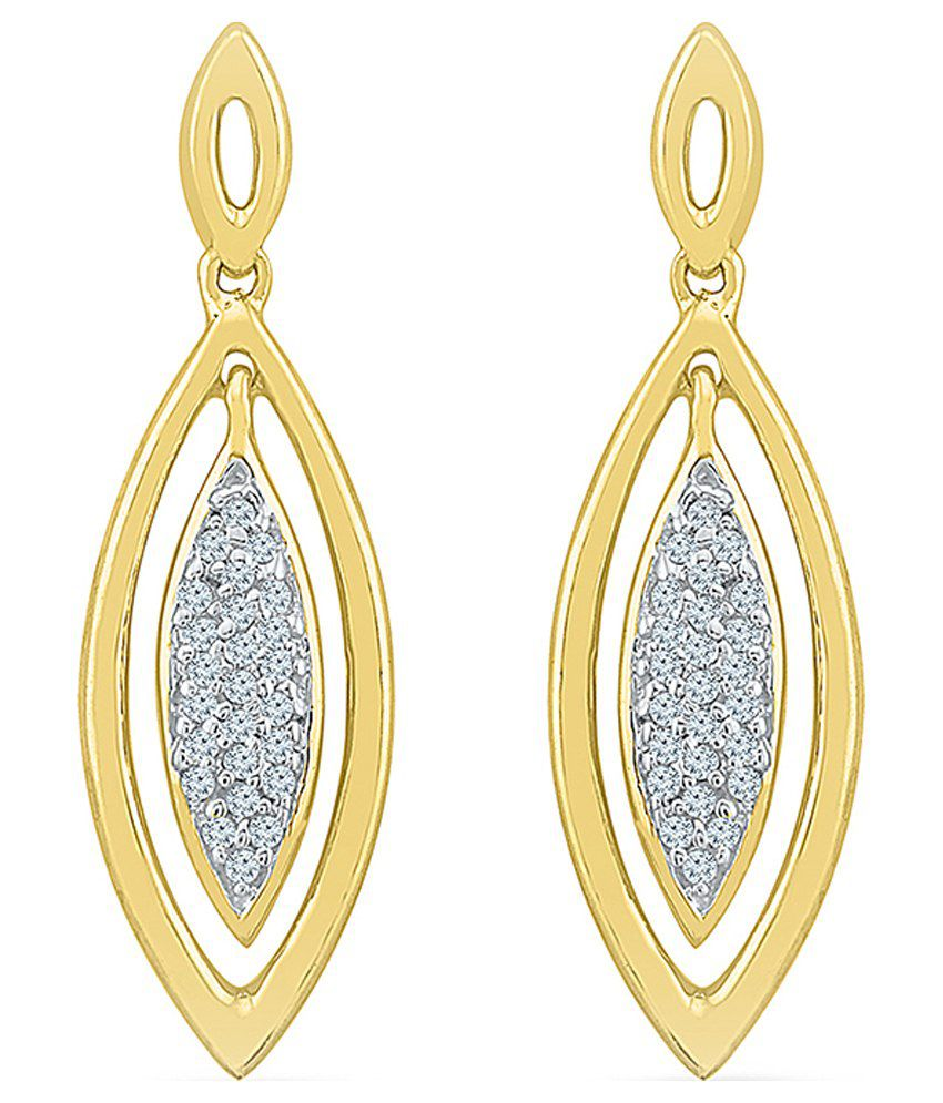 Radiant Bay 18kt Gold Round Danglers