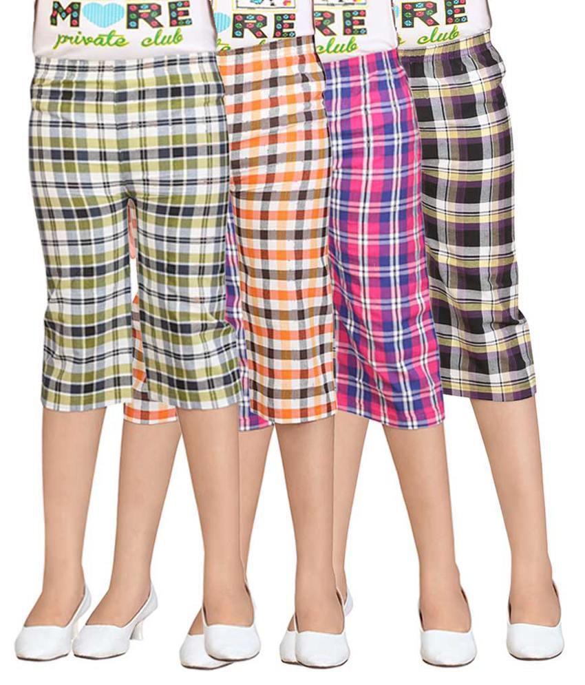 Sinimini Multicolour Capris - Pack of 4