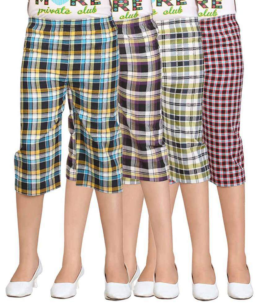 Sinimini Multicolour Capris - Pack of 4