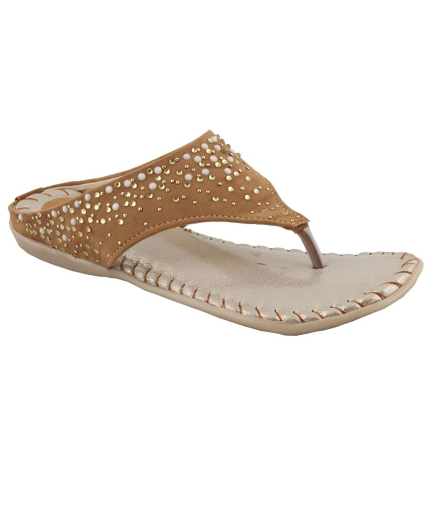 Anand Archies Stunning Tan Flats