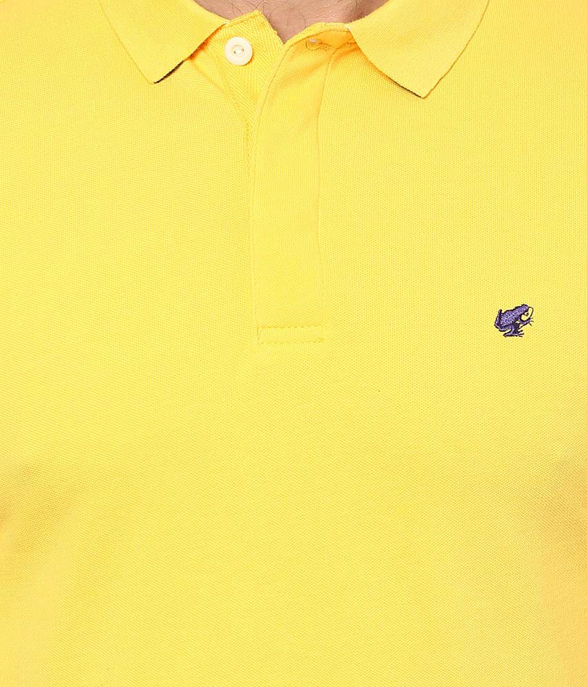 bd04f9d2b Giordano Yellow Solid Polo T Shirt - Buy Giordano Yellow Solid Polo ...