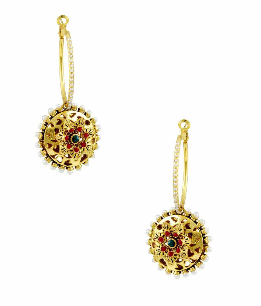 Orniza Multicolour Bridal Hanging Earrings