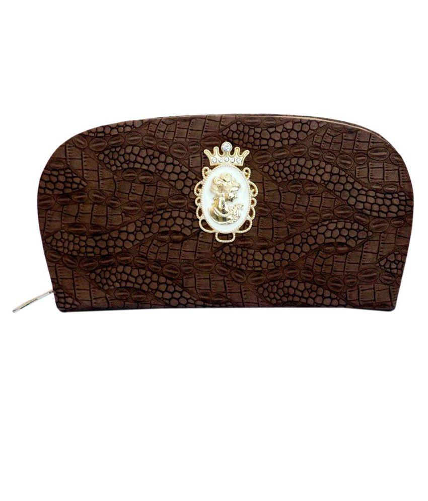 Simi's Non Leather Brown Women Regular Wallet