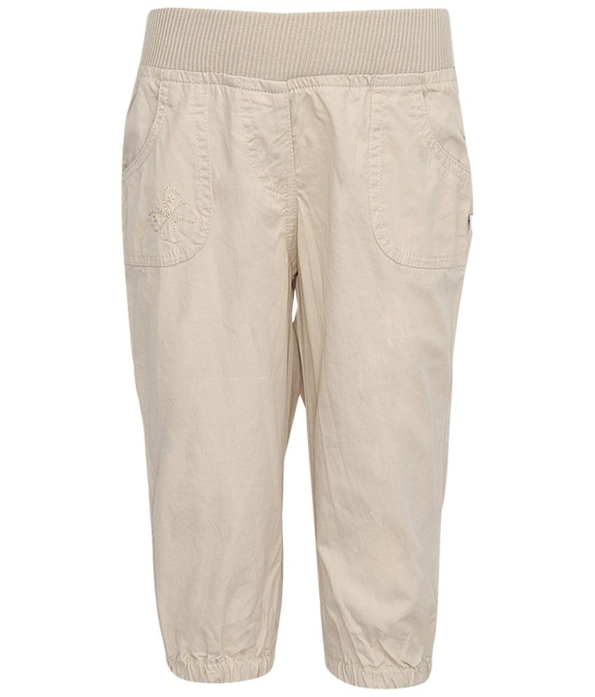 Stop by Shoppers Stop Beige Cotton Capri