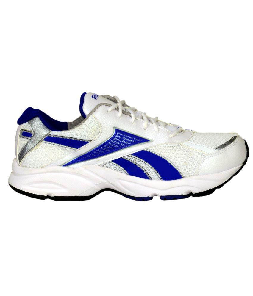 reebok linea white running shoes